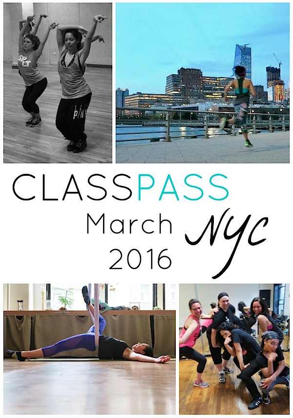 ClassPass NYC: My March 2016 Month Recap