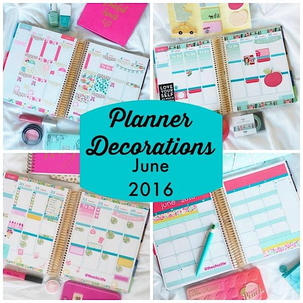 Planner Decorations June 2016 (Erin Condren Vertical)