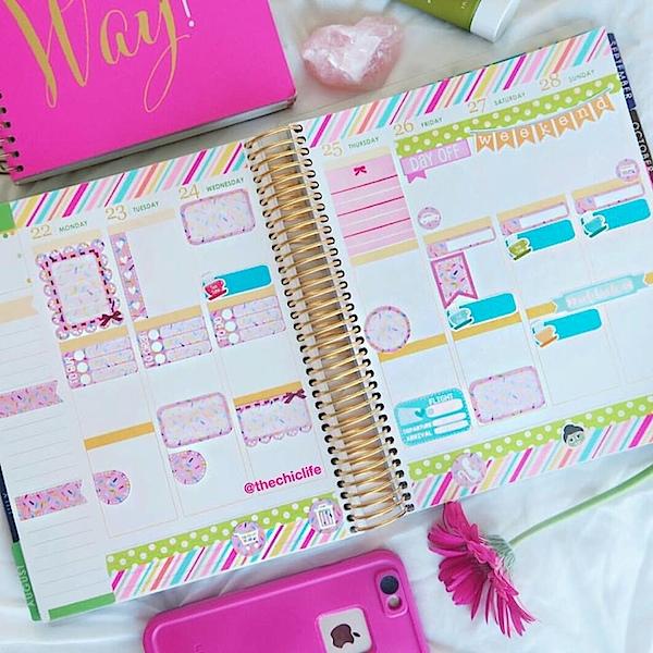Planner Decorations August 2016 (Erin Condren Vertical)