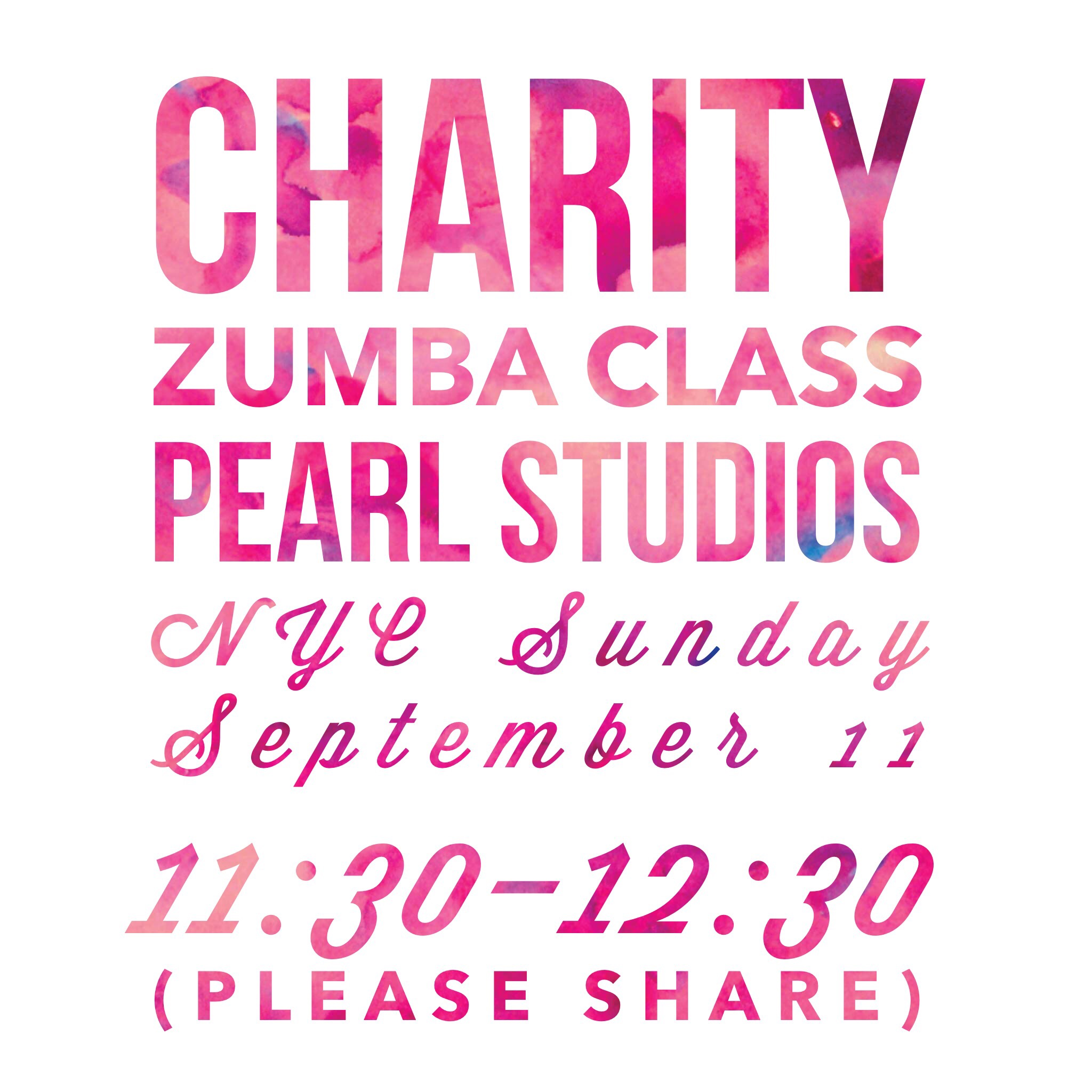 Zumba Charity Class NYC (Sunday, September 11, 2016)