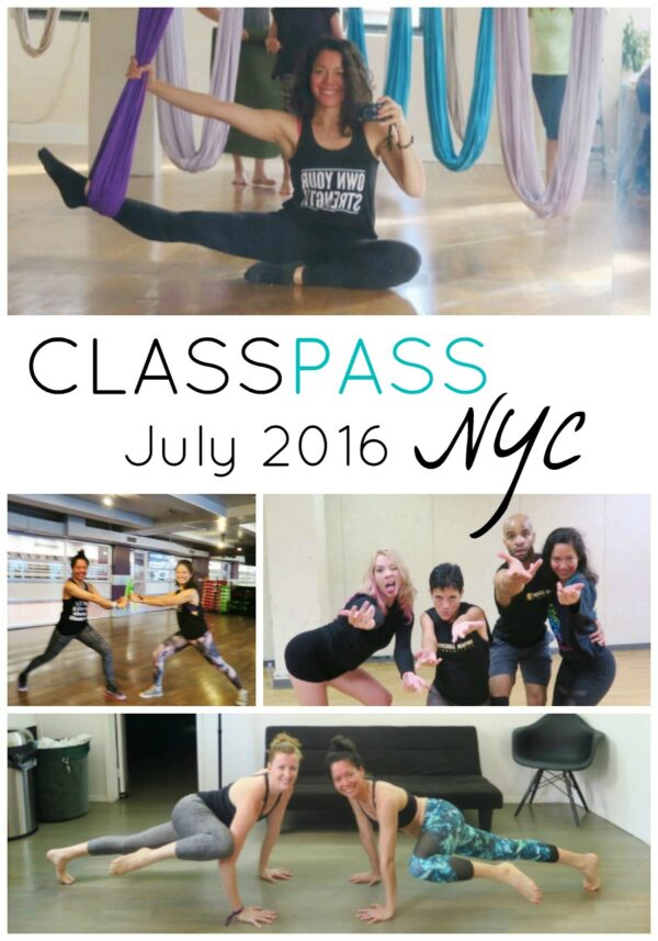 ClassPass NYC: My July 2016 Month Recap