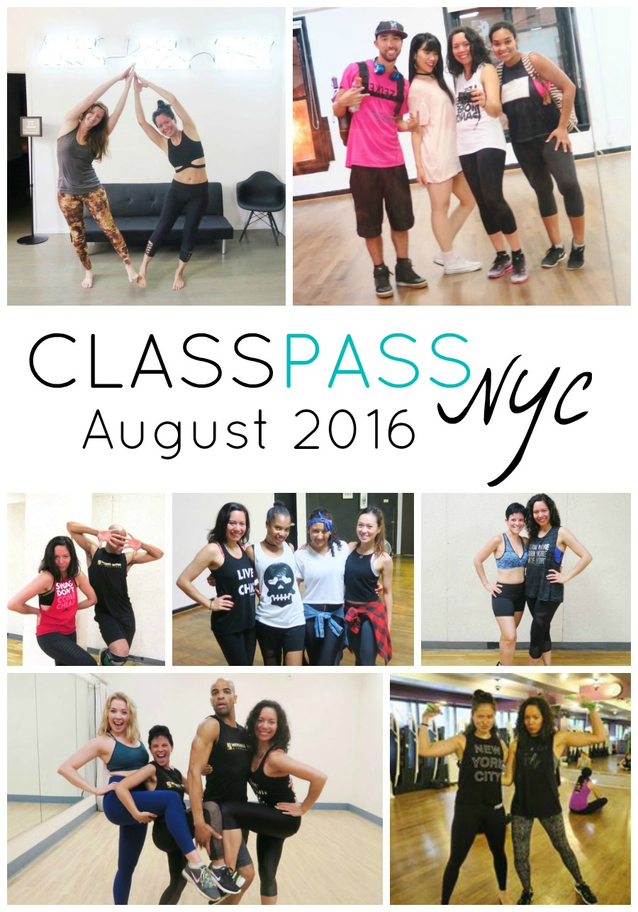 ClassPass NYC: My August 2016 Month Recap