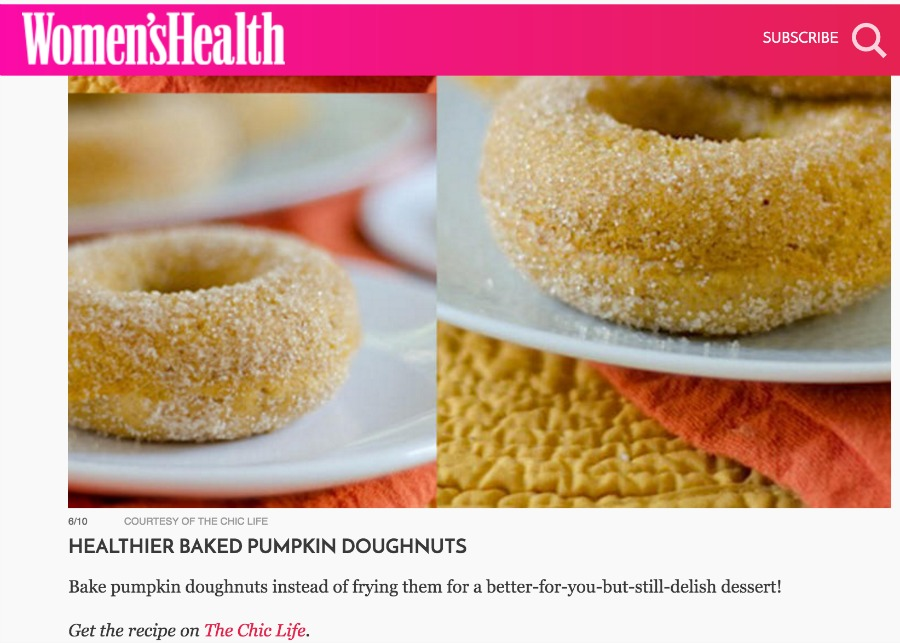 Women's Health Mag Pumpkin Feature
