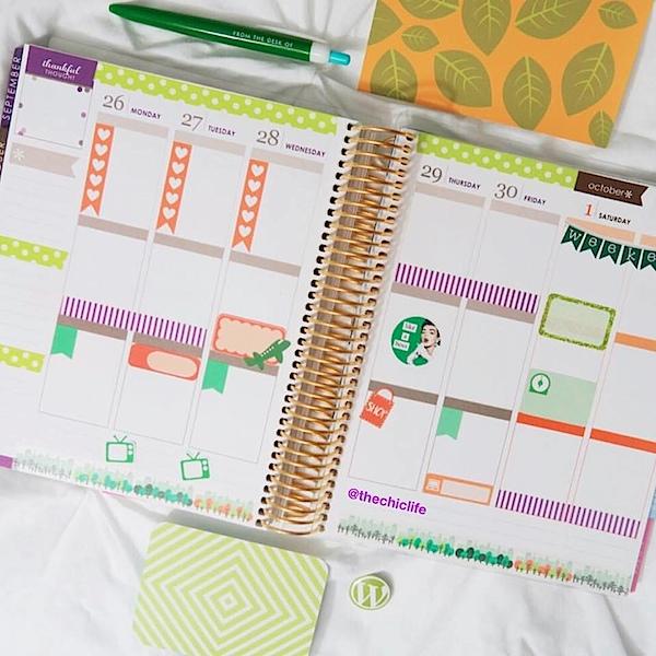 Planner Decorations September 2016 (Erin Condren Vertical)