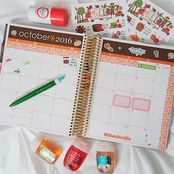 Planner Decorations October 2016 {Erin Condren Vertical}