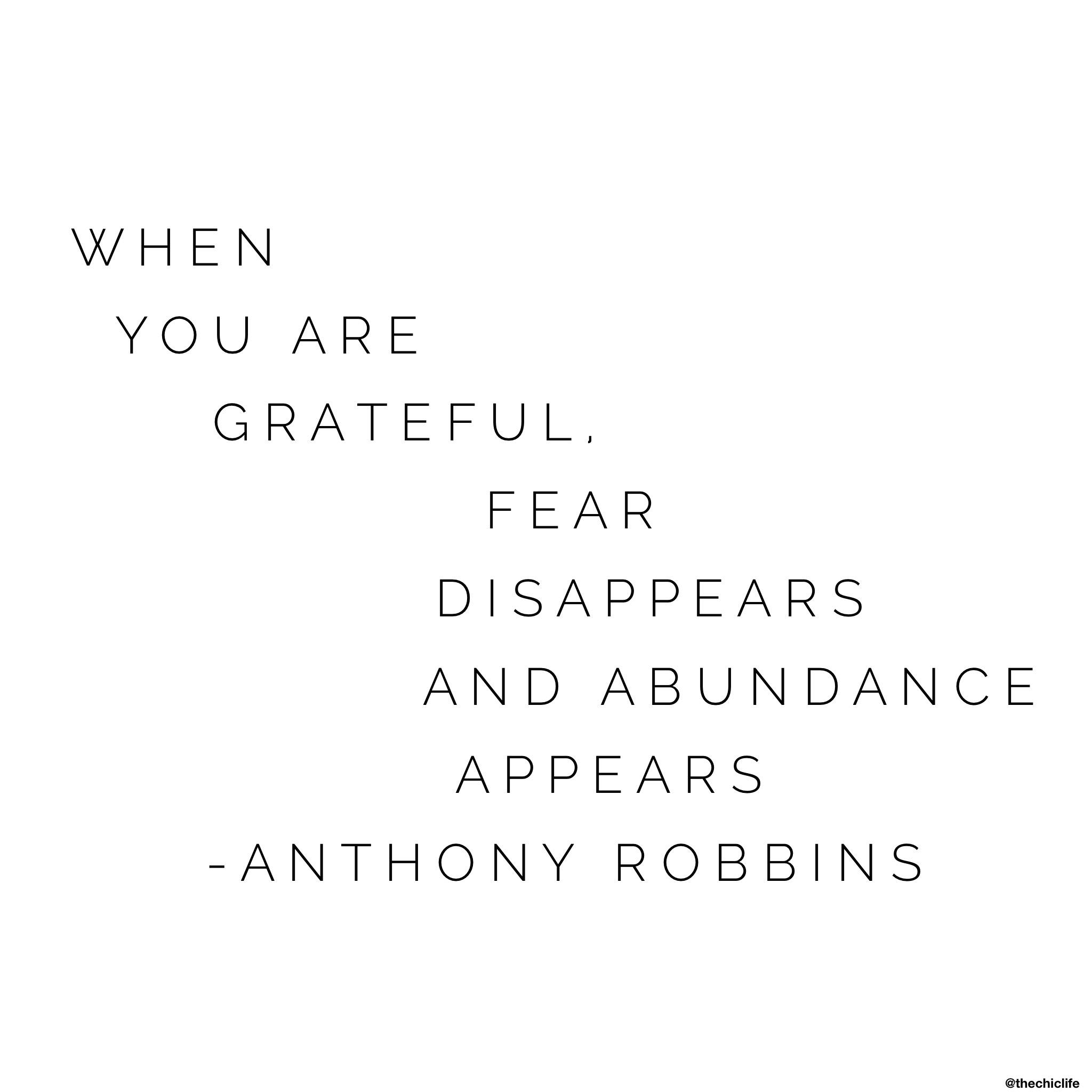 When You Are Grateful…