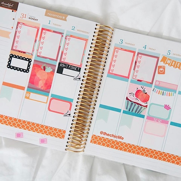 Planner Decorations November 2016 {Erin Condren Vertical}