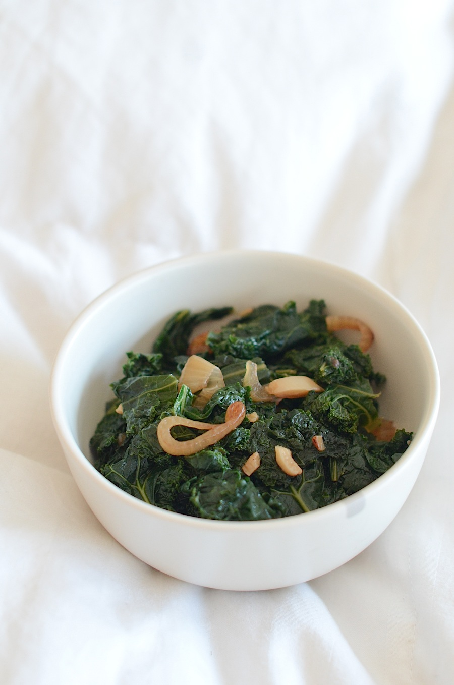 Sautéed Kale with Garlic and Shallots Recipe in Less Than 30 Minutes