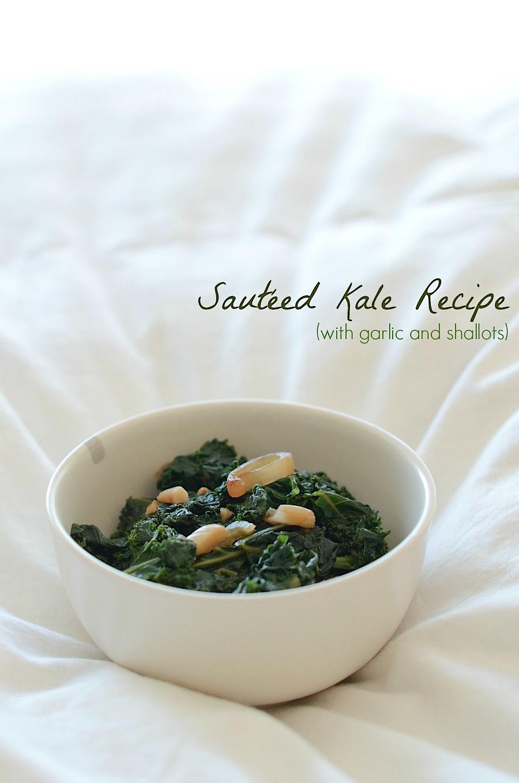 Sautéed Kale with Garlic and Shallots Recipe