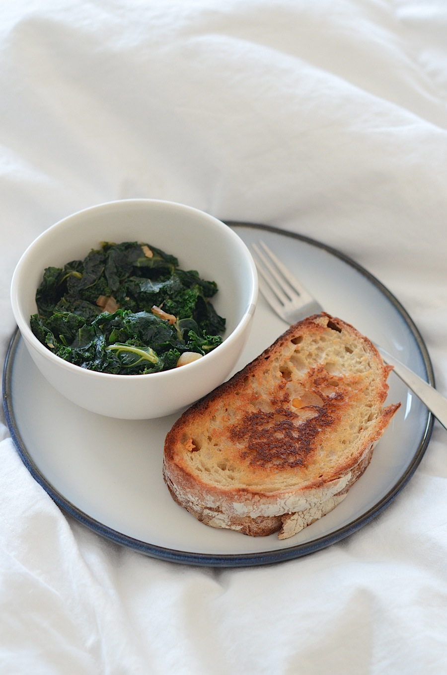 This Sautéed Kale with Garlic and Shallots Recipe goes great with a ...
