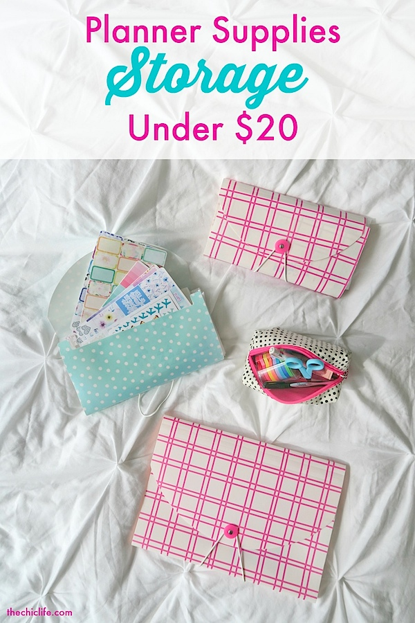 Planner Supplies Storage for Under $20