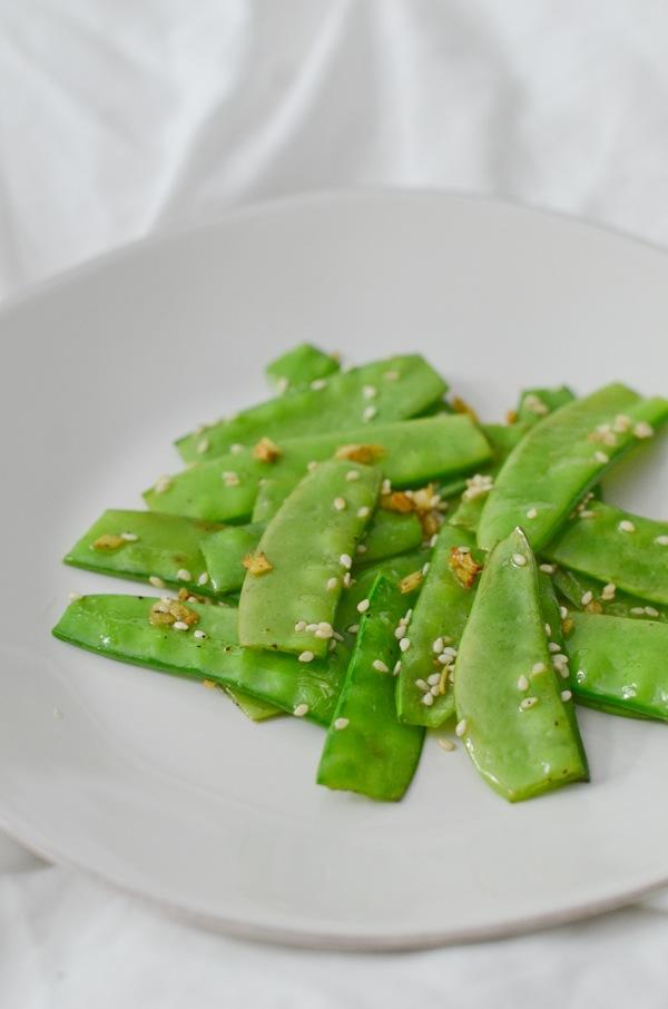 Sesame Ginger Snow Peas Recipe