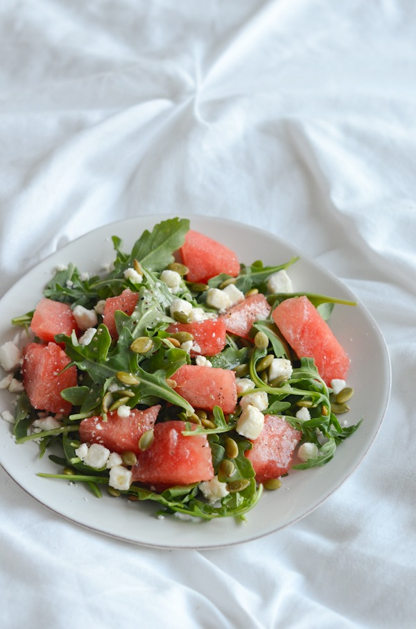 Watermelon Arugula Salad with Lime Vinaigrette Recipe