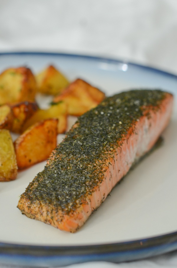 Quick and Easy Dill Roasted Salmon Recipe