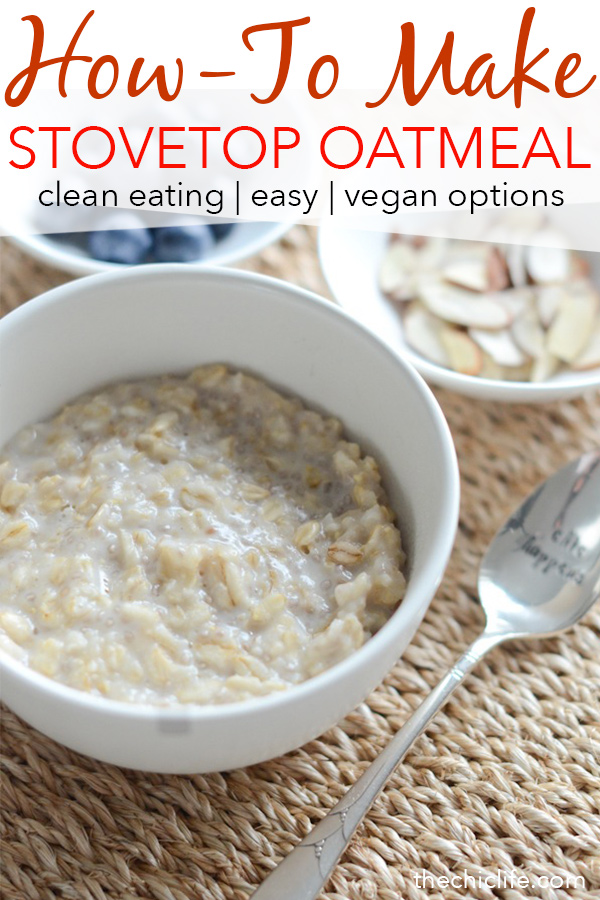 Watch how easy stovetop oatmeal is to make! Click for a video and simple recipe on how to make delicious, creamy oatmeal for breakfast today! #recipe #healthy #healthyrecipes #healthyfood #cleaneating #realfood #vegan #veganrecipe #breakfast