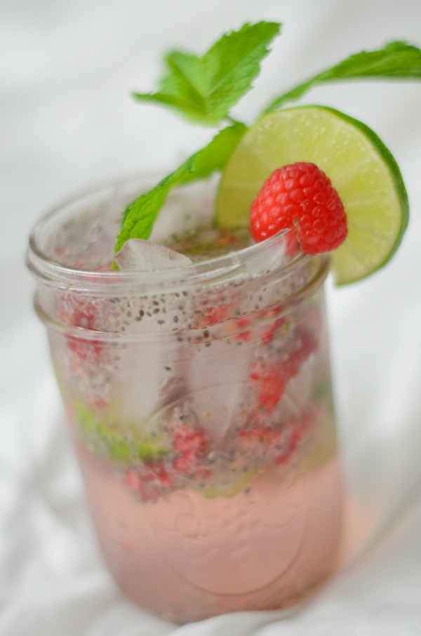 Raspberry Lime Chia Fresca Drink Recipe - The Chic Life