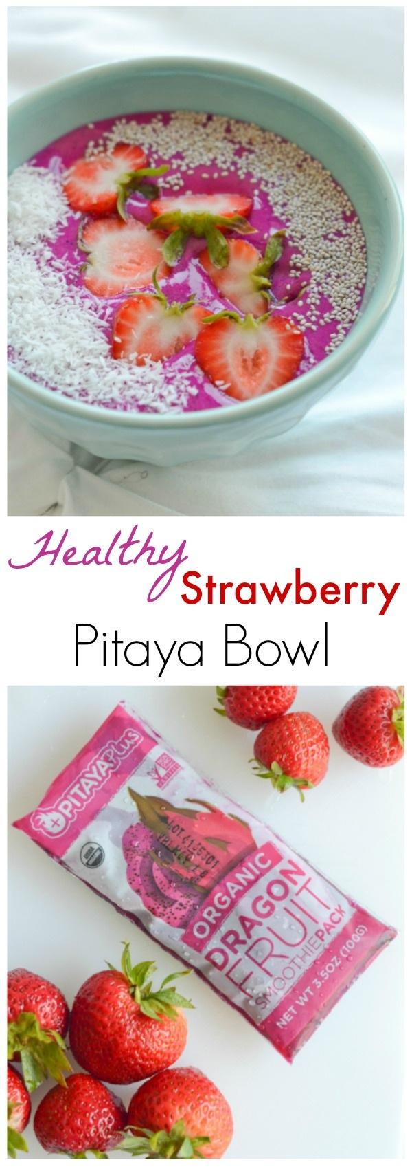 Healthy Strawberry Pitaya Bowl Recipe