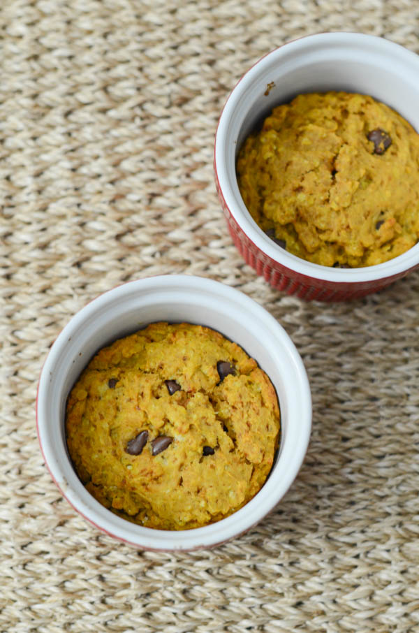 Healthy Pumpkin Oatmeal Chocolate Chip Cake Minis Recipe