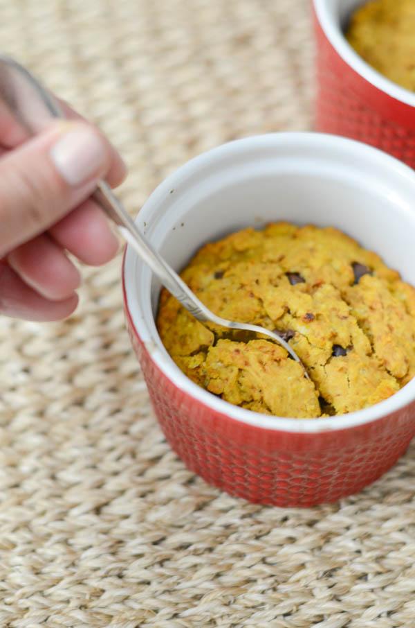 Healthy Pumpkin Oatmeal Chocolate Chip Cake Minis Recipe