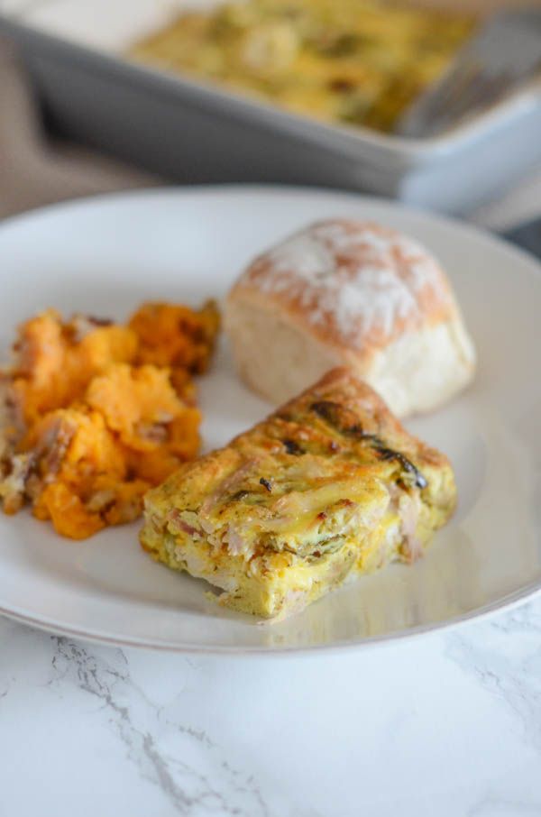 Transform your Thanksgiving leftovers into this delicious and Healthy Leftover Turkey and Veggie Breakfast Casserole with this cleaning eating recipe. Perfect for a post-holiday breakfast. Your family will love this fall recipe. #fallfood #fallrecipe #recipe #healthy #healthyrecipes #healthyfood #cleaneating #recipe #realfood #thanksgivingleftovers