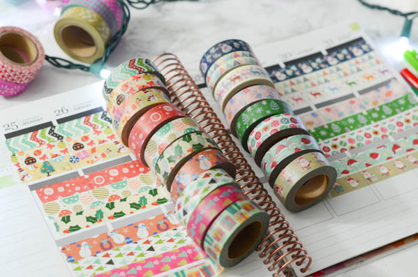 Christmas / Holiday Washi Tape Haul | Cute Planner Supplies