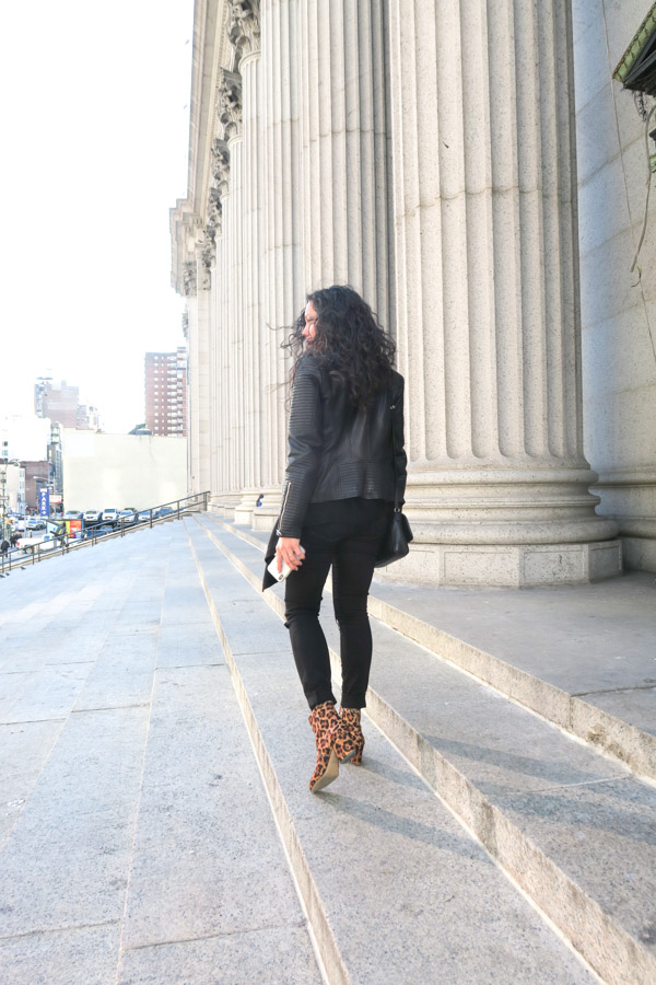 All Black Layers and Leopard Booties {NYC Outfit}