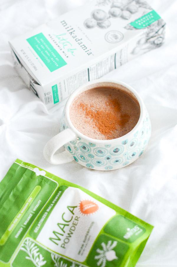 Healthy Macadamia Maca Hot Chocolate Recipe