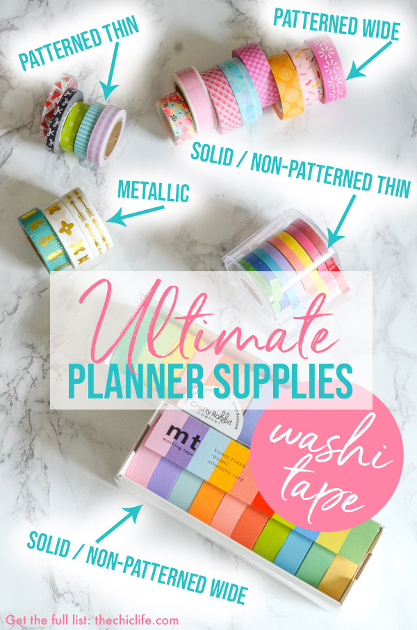 Ultimate Planner Supplies | Best Washi Tape | Planner Decorations