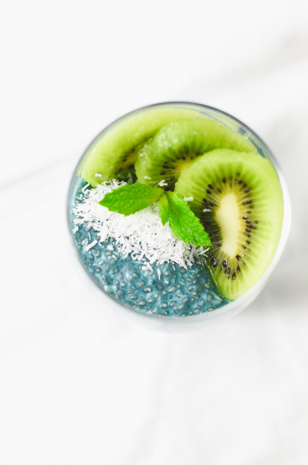 Coconut Chia Pudding Recipe with Blue Majick | Vegan, Paleo, and Keto