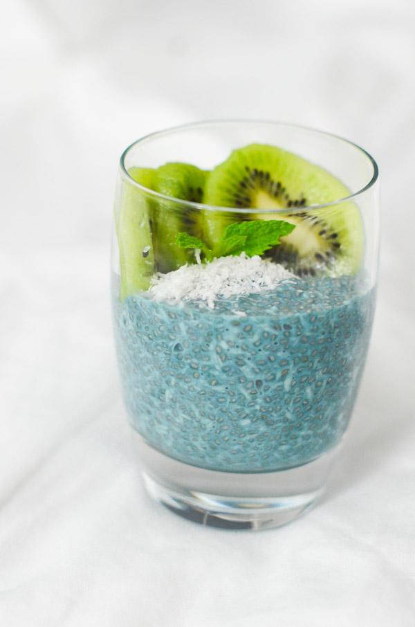 Coconut Chia Pudding Recipe with Blue Majick | Vegan, Paleo, and Keto