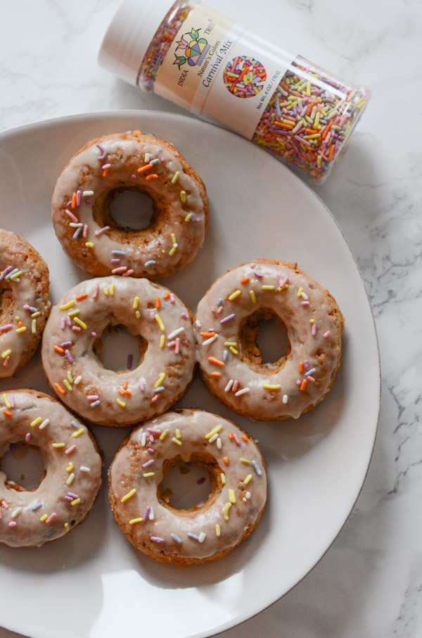 Coconut Cake Batter Doughnuts Recipe | No Refined Sugar | Vegan