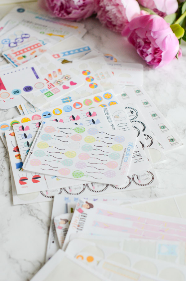 Sticker Destash 2018 and GIVEAWAY | Planner Decoration Supplies