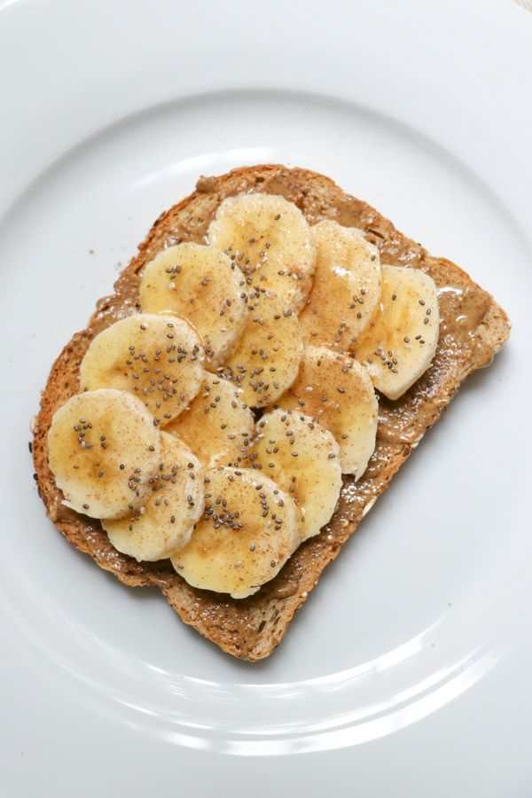 Easy Almond Butter Banana Honey Toast Recipe | A delicious (basically) no cook recipe when you want a healthy breakfast, but you're short on time
