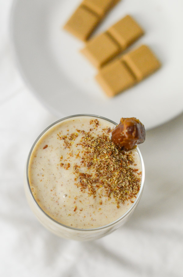 Healthy Salted Caramel Smoothie Recipe | No Sugar Added!