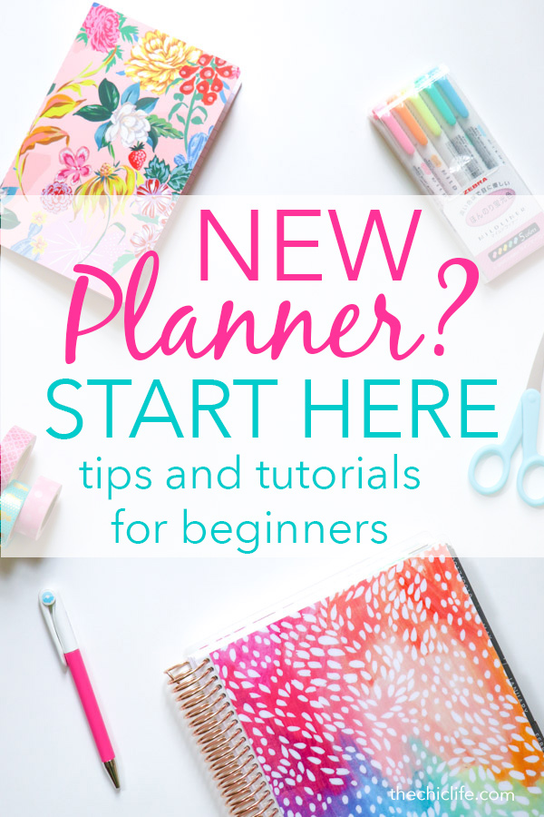 So you have a new planner but you have no idea where to start?! Start here! I've gathered my best beginner planner tips to help you use and decorate your planner with videos and photos of my actual layouts. Plus much more! #planner #organization #erincondren #happyplanner #plannerideas
