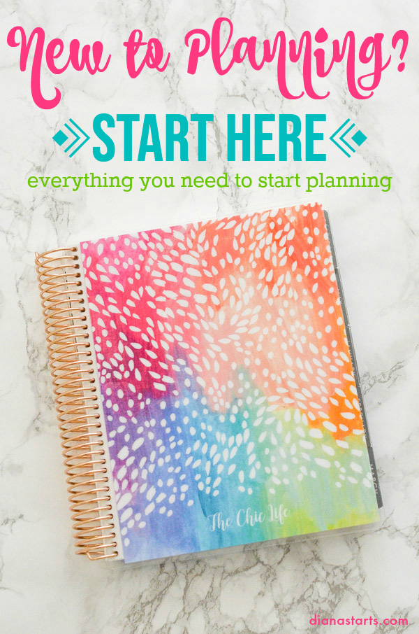 New to Planning? Start here for Planner Beginners - everything you need to get started planning
