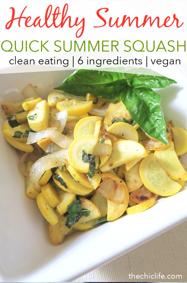 Summer Squash Sauté | Click for 11 more healthy summer recipes that are perfect for celebrating the Fourth of July, Labor Day or even just for entertaining friends and family to enjoy the last days of summer. Clean eating style, easy, from scratch, real food, really delicious - great for lunch, dinner with ideas for dessert and non-alcohol drinks / mocktails #recipe #healthy #healthyrecipes #healthyfood #cleaneating