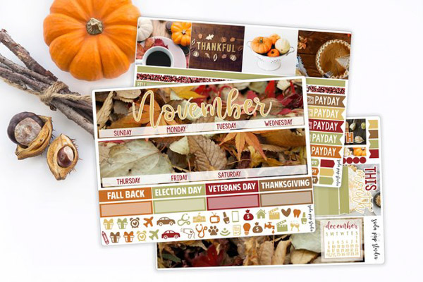 Here are 5 Gorgeous Fall Sticker Kits You Need for Your Planner 2018. These are made for the Erin Condren LifePlanner, but many of the Etsy shops have descriptions saying the stickers can work in almost any planner. Click for details! #erincondren #lifeplanner #planner #planning #erincondren #plannerdecorations #plannerideas