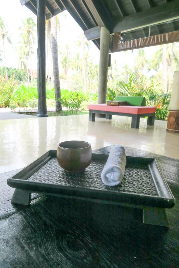 Evason Hua Hin Welcome Tray and Drink