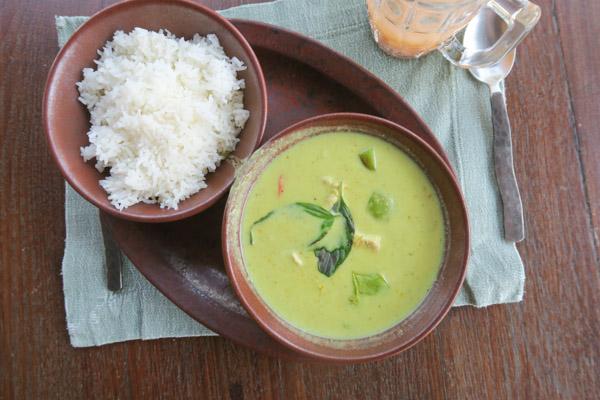 Green Curry at Evason Hua Hin Thailand