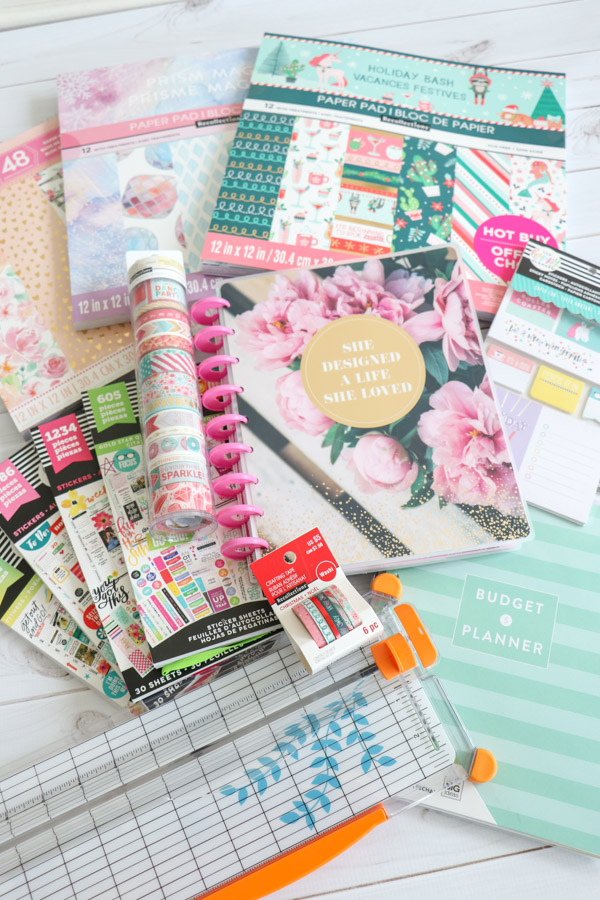 Click to watch a video and read about this HUGE haul I did to get a new Happy Planner and some fun planner supplies to take my planner to the next level. You'll love seeing these cute planner supplies. #planner #planning #plannerideas #plannersupplies #happyplanner #mambi