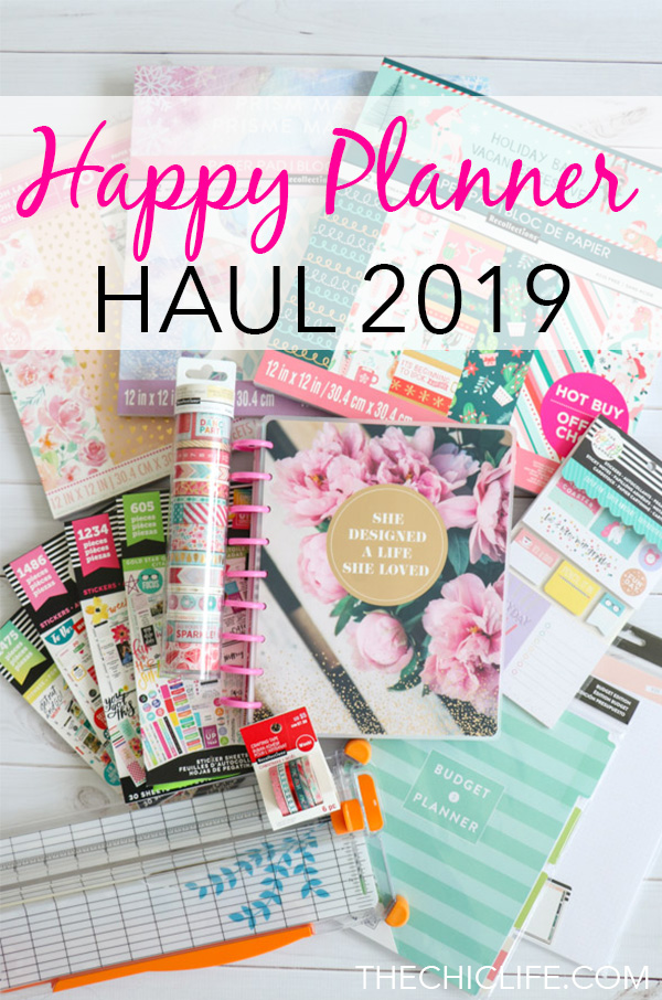 Click for my Happy Planner 2019 haul - what I bought including accessories. Plus there's a video with a planner flip through! Time to get organized in 2019 #planner #happyplanner #thehappyplanner #plannerhaul