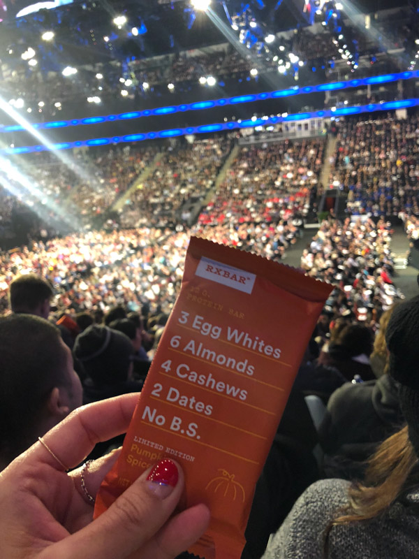 What I ate at Tony Robbins Unleash the Power Within NYC Area 2018