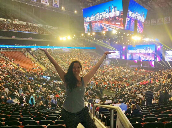 Me at Tony Robbins Unleash the Power Within NYC Area 2018
