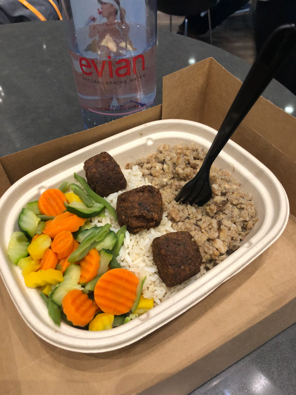 Falafel Bowl at Me at Tony Robbins Unleash the Power Within NYC Area 2018