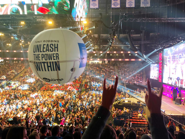 The energy was through the roof at Tony Robbins Unleash the Power Within NYC Area 2018