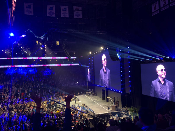 Surprise concert by Pitbull at Tony Robbins Unleash the Power Within NYC Area 2018