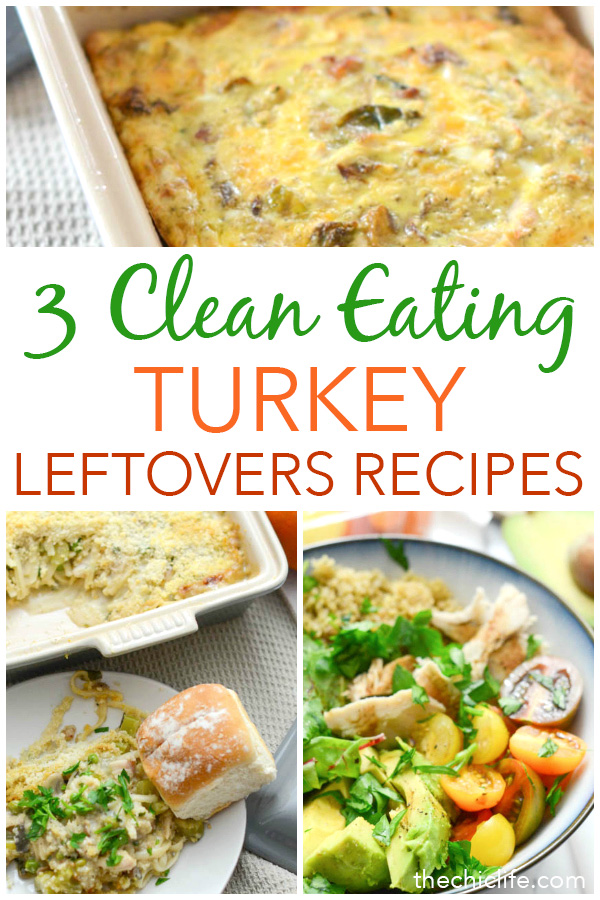 Healthy full flavor leftover turkey recipes are possible! Try these 3 Clean Eating Leftover Turkey Recipes for breakfast, lunch, and dinner. These nutritious recipes are delicious and easy! #recipe #healthy #healthyrecipes #healthyfood #cleaneating #holidayfood #christmasfood #thanksgivingfood