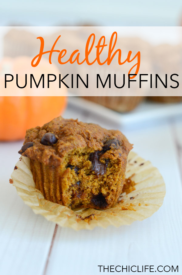 I can't stop making these healthy pumpkin chocolate chip muffins! They're delicious, clean eating, and vegan. Loving them for breakfast AND dessert! #recipe #healthy #healthyrecipes #healthyfood #cleaneating #recipe #realfood #vegan #veganrecipe