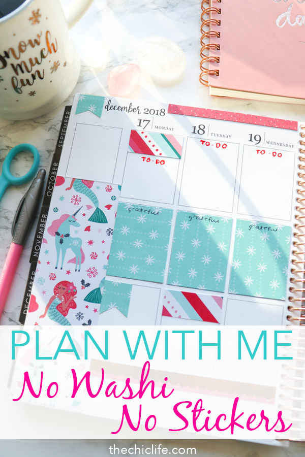 Did you know you can decorate your planner without any washi tape or stickers?! Click to see how. It's so easy, fun, and affordable! #erincondren #plannerdecorations #plannerideas